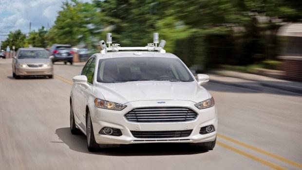 Self-driving Ford Fusion Hybrid sedans