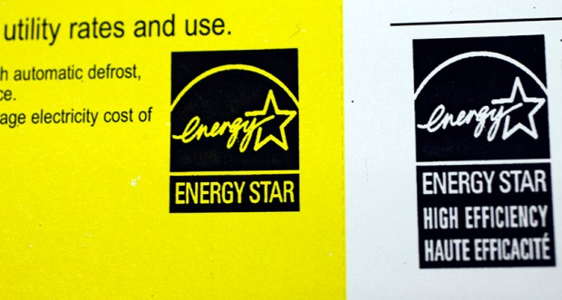 This March 9, 2010, file photo shows an Energy Star label at an appliance store in Mountain View, Calif. President Donald Trump is seeking to eliminate funding for Energy Star, which encourages efficiency in major appliances, office equipment, lighting and home electronics.