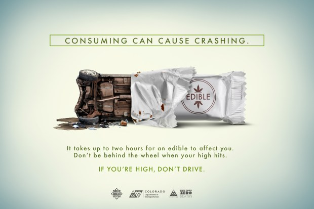 Consuming can cause crashing flyer
