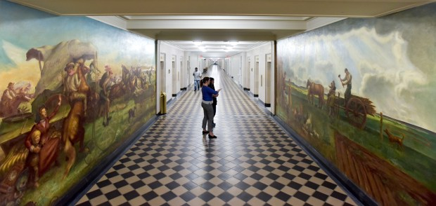 With 47 murals and its own permanent collection, the Department of the Interior has one of the largest art collections among federal buildings.