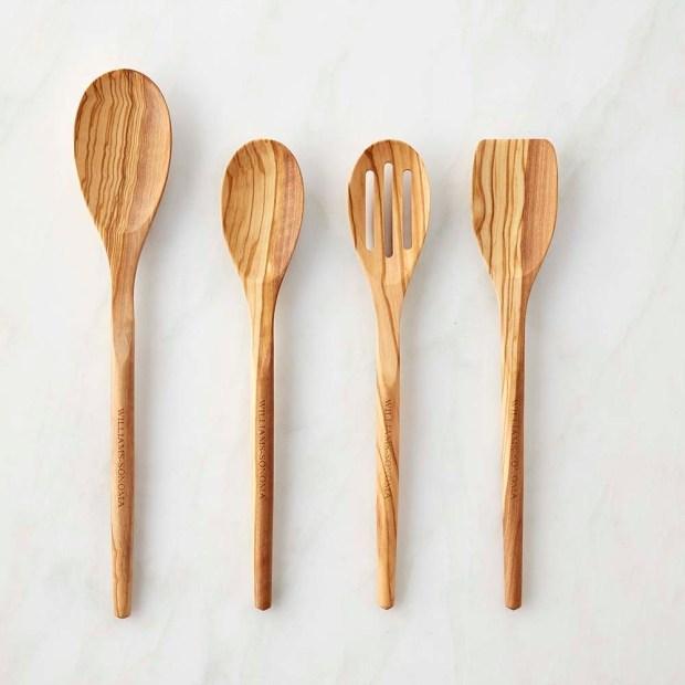 Olive wood utensils.
