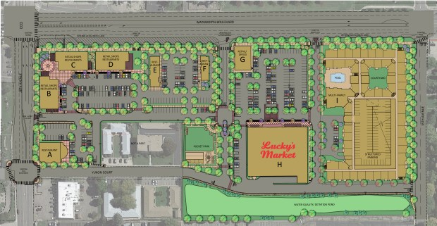 A rendering of The Corners at Wheat Ridge.