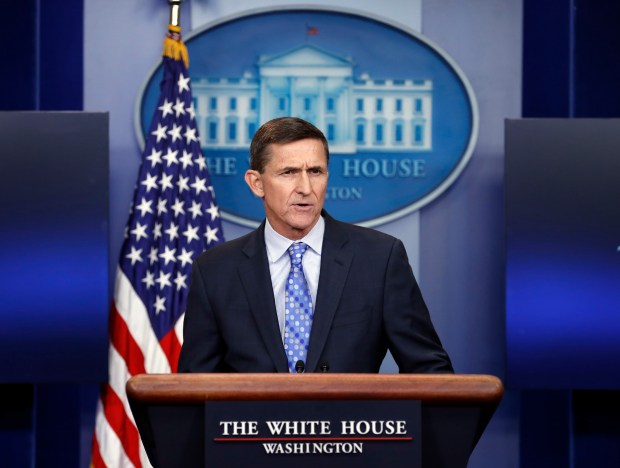 Then-National Security Adviser Michael Flynn ...