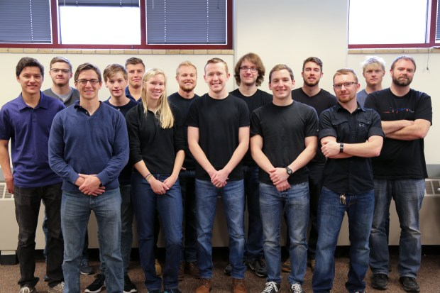 Team DiggerLoop is a group of 14 Colorado School of Mines engineering majors who are working on a pod to compete in SpaceX's Hyperloop competition in August 2017. Team members include Team members include mechanical engineering students James Bloomfield, Jacob Suter, Ryan France, Braiden Olds, Will Marquis, Christian Grundfor, Zach Melphy, Michael Lanahan, Jackie Knott, Karl Grueschow and Vincent Koch and electrical engineering students Jeremy Che, Tim Walker and Austin Genger.