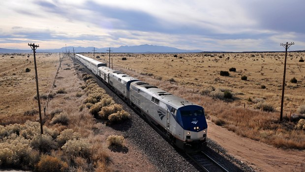 The eastbound Southwest Chief heads into Lamy, N.M., on Dec. 3, 2010.