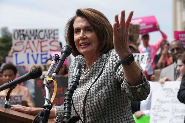 House Minority Leader Nancy Pelosi speaks during a rally against the American Health Care Act last Thursday in front of the U.S. Capitol.