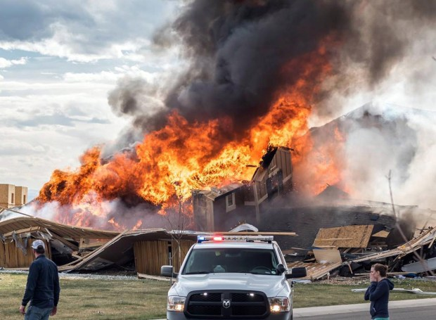 A home explosion in Firestone on April 17 killed two and sent two people to the hospital. Frederick-Firestone Fire Protection District chief Ted Poszywak this week blamed the blast on odorless gas that seeped from a severed 1-inch pipeline into French drains and a sump pit.
