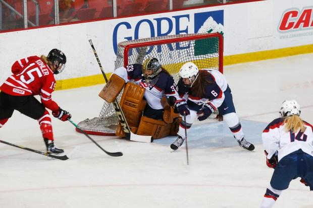 USA goalie Nicole Hensley of Lakewood ...
