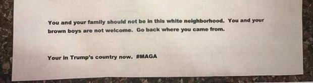 A family in Longmont's Historic Westside neighborhood received this letter on Wednesday.
