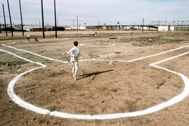 The future site of Coors Field in Lower Downtown Denver seen here in April 1991.