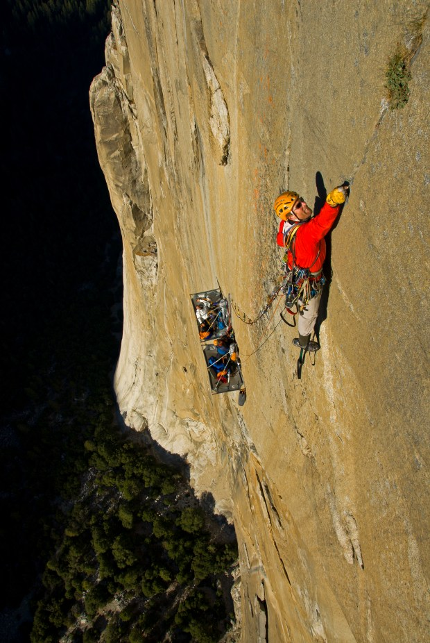 Conrad Anker climbing the Pacific Ocean Wall on El Capitain Oct. 7, 2007 in Yosemite National Park, Calif.