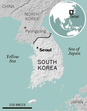 Map of Seoul, South Korea