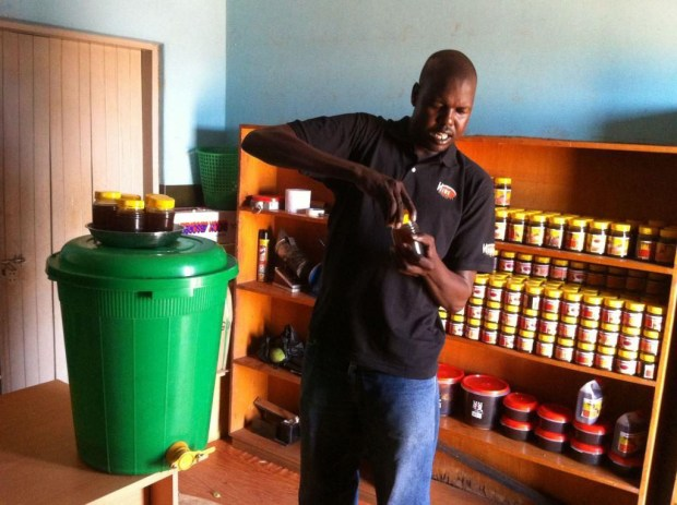 Ojok Simon will use his prize money to teach other blind people to raise honeybees.