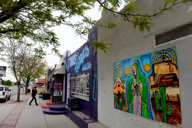 Beautiful painted murals are found throughout ...