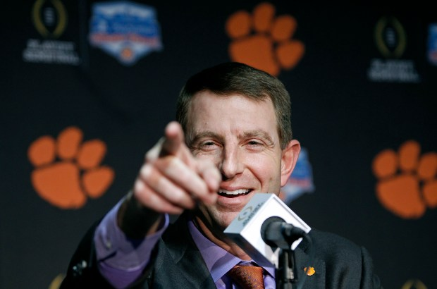 Clemson head coach Dabo Swinney speaks ...