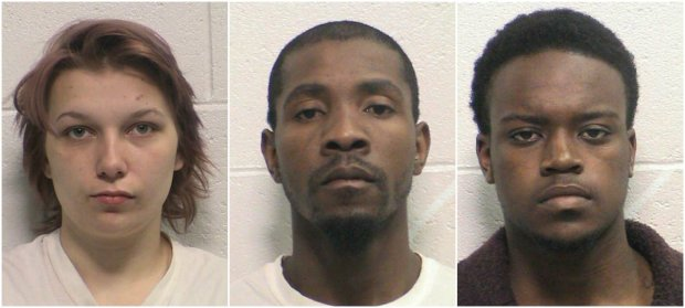 Alysse Rios, 19, Kevin Goff, 27, and Michael Jones, 19 – were formally charged Friday with first-degree murder.