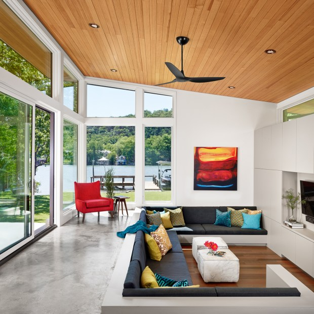 Haiku Homes's sleek ceiling fans ($500 and up, haikuhome.com) are on the pricey side, but they're equipped with an energy-saving occupancy sensor that turns off the the fan when the room is empty.