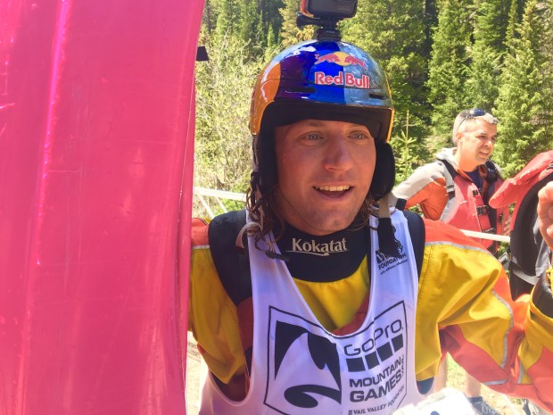 Dane Jackson won his third GoPro Mountain Games Steep Creek Championship Thursday on Homestake Creek. Photo by Jason Blevins / The Denver Post