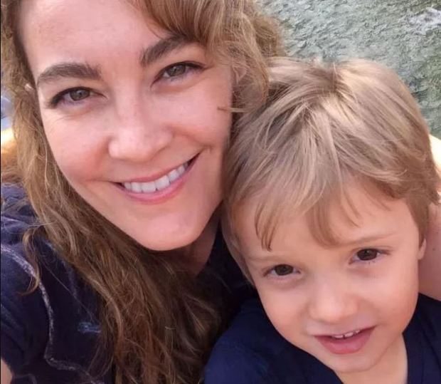 Stacy Farrar and her son, Ian.
