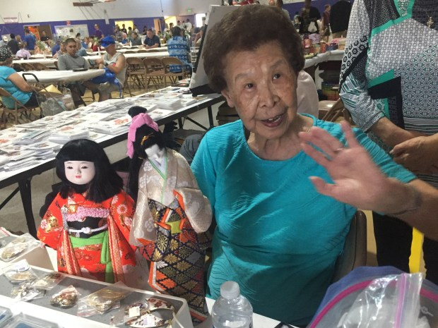 Kimiko Side, the 94-year-old artist who teaches Japanese craft classes at the Denver Buddhist Temple. She donates proceeds to the temple.