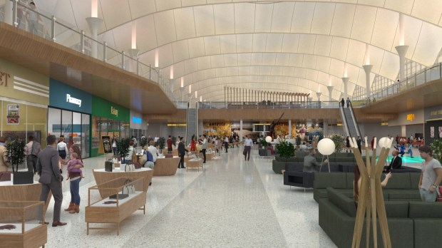 Denver international airport is preparing for a 26 gate for International decor gates