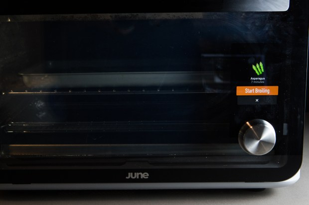 The countertop June convection oven has ...