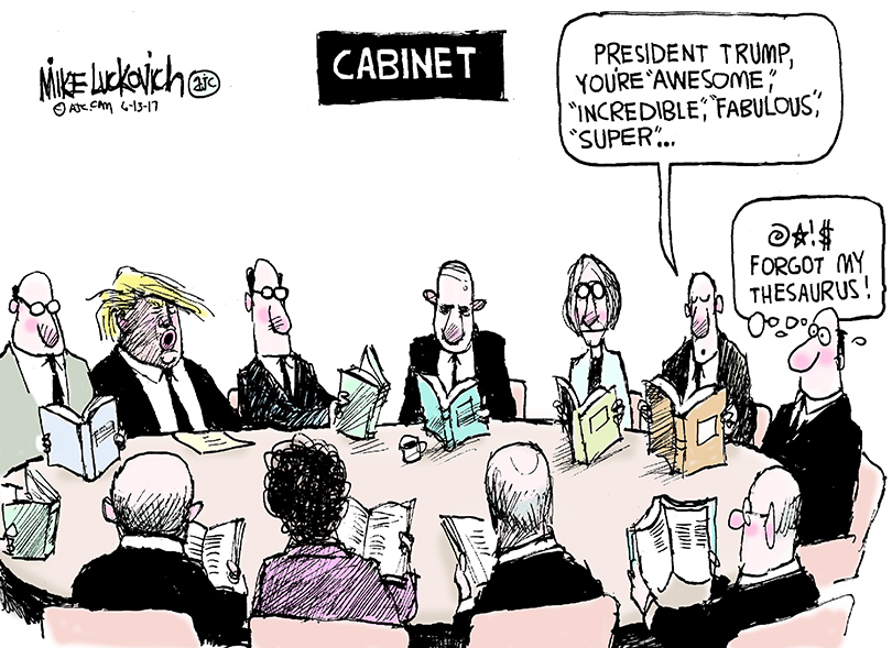 Drawn to the News: Trump Cabinet meeting
