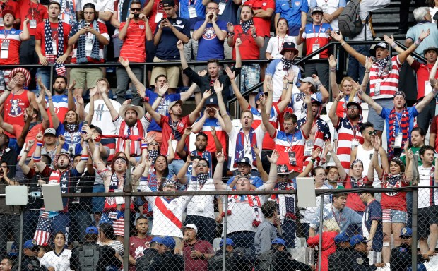 United States fans cheer during the ...