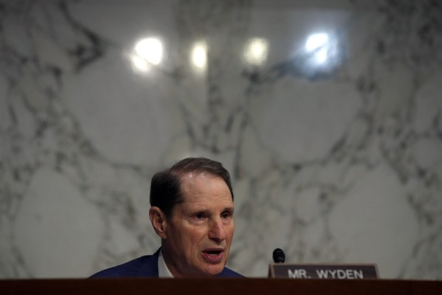 U.S. Sen. Ron Wyden, D-Ore., speaks during a hearing before the Senate Intelligence Committee June 21 at the U.S. Capitol.
