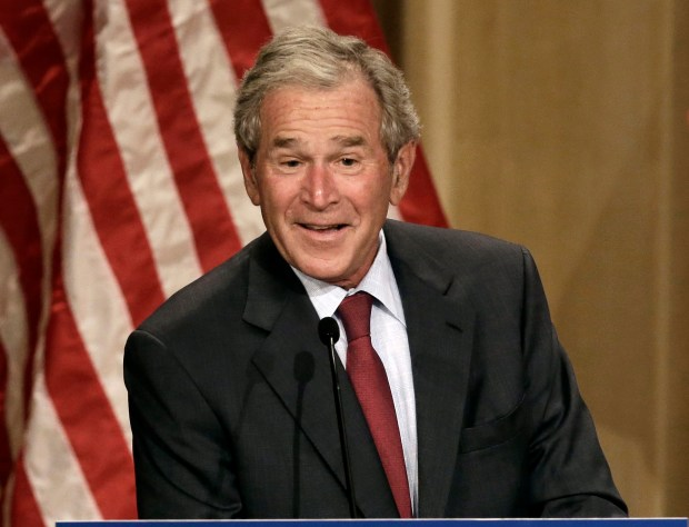Former President George W. Bush speaks during an energy conference in Dallas on Sept. 12, 2013. As part of the Freedom Conference & Festival, a conservative confab taking place in Steamboat Springs next month, Bush's paintings will be on display for attendees at the Steamboat Grand Hotel.