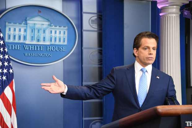 Anthony Scaramucci, President Donald Trump's new White House communications director, speaks during a press briefing at the White House last Friday.