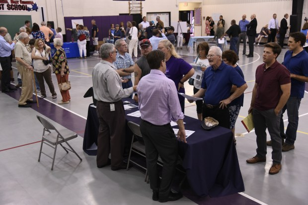 Federal, state, county and local agencies hosted an open house at Janitell Junior High School in Fountain, Colorado July 25, 2017.