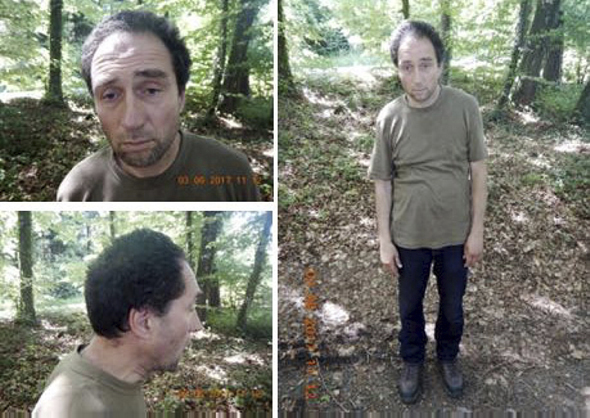 This undated images released by the KAPO Schaffhausen shows the alleged attacker who injured several people in Schaffhausen Switzerland Monday, July 24, 2017.