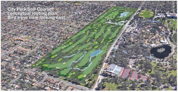 A conceptual design of the City Park Golf Course makeover that will go before Denver City Council next week.