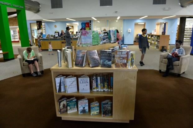 Visitors to the Mission Viejo Library and Mission Viejo Park on June 28 in Aurora.