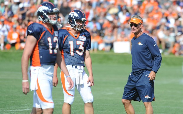 Denver Broncos offensive coordinator Mike McCoy ...