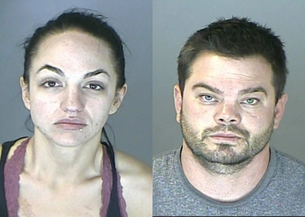 Corina Lorraine Kurtz, left, and Nichalous Sanchez, right.