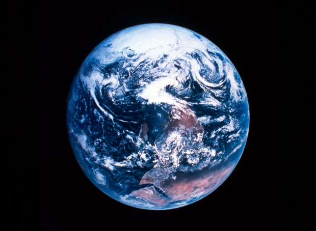 Satellite view of planet Earth