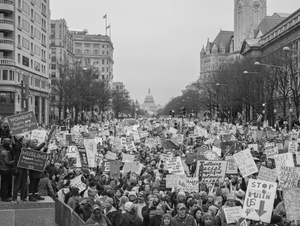 A scene from the Womens March, Jan. 21, 2017 in Washington D.C.