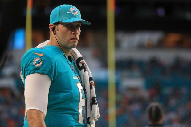 Jay Cutler #6 of the Miami ...