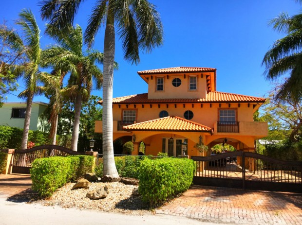 Everglades National Park: The 1999 waterfront Mediterranean style home in Key Largo, Fla., is listed at $1,799,000.