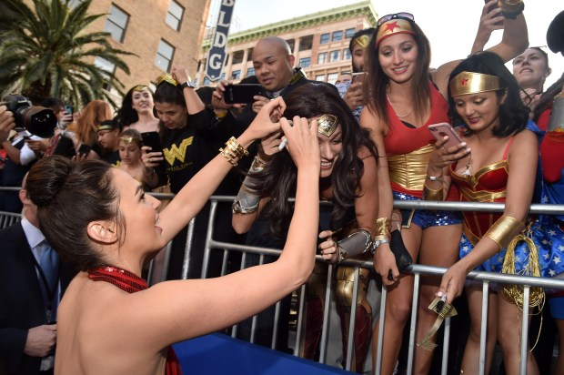 Actress Gal Gadot attends the premiere ...