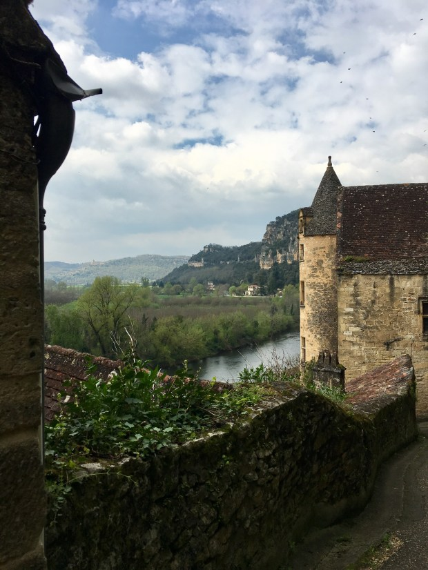 A steep switchback road leads through the medieval village of La Roque Gageac, above the Dordogne.