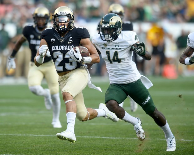 Colorado Running Back Phillip Lindsay Runs Past States Anthony Hawkins For A Touchdown During The