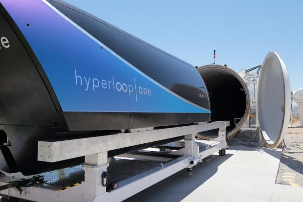 Hyperloop One, a Los Angeles firm investing in futuristic transportation, build a working test track near Las Vegas. The company successfully tested a working pod on a one-third mile track in August 2017.