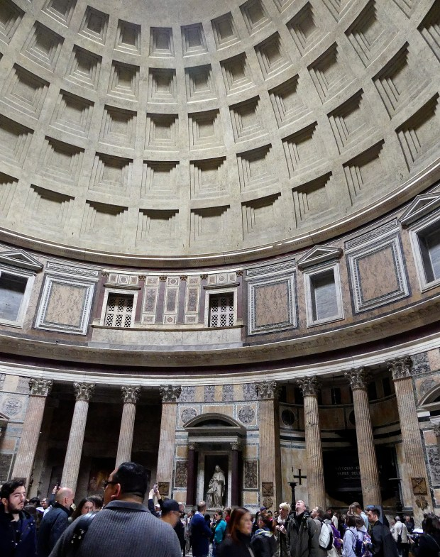 The Pantheon, where the artist Raphael is buried, remains the largest unreinforced concrete dome in the world. It was build nearly 2,000 years ago.