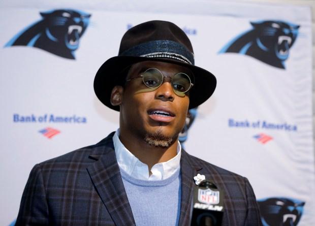Carolina Panthers quarterback Cam Newton speaks ...