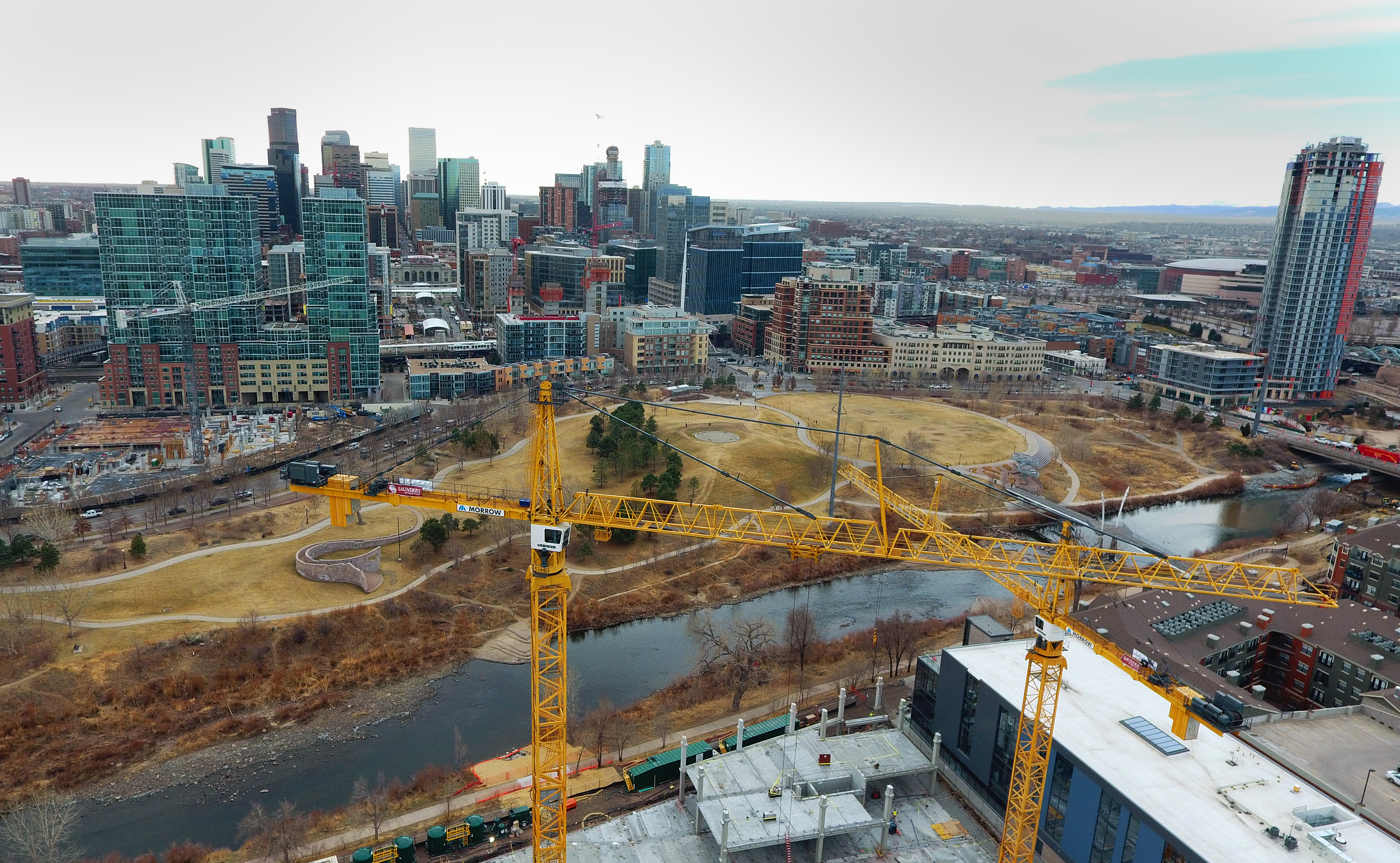 Cranes tower over the new Riverview ...