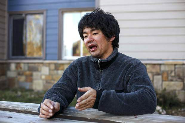 Shuei Kato, who spent three days lost in the wilderness near Missouri Mountain earlier this month, speaks during an interview on Oct. 11 at his home in Silverthorne.