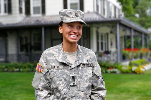 File photo, Cadet Simone Askew, ...